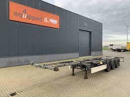 container chassis semi trailer Krone 40FT HC, Scheibebremsen, Leergewicht: 5.060kg, hinten-ausziehbar 2013