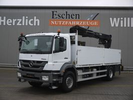 drop side truck Mercedes-Benz Axor 1829 4x2, Hiab 166 Kran 2012