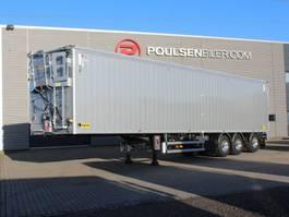 walking floor semi trailer Legras 3-axle 91m3 walkingfloor EcoTop hydraulic roof