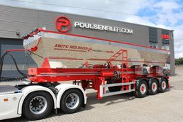 tipper semi trailer Semita 3-axle asphalt band-trailer