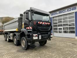 drop side truck Iveco AD410TW TRAKKER 450 8x8 Euro 6 Muldenkipper TOP! 2017