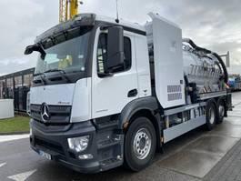 vacuum truck Mercedes-Benz ANTOS 2543 6X2 EURO 6 + RIVARD VACUUM CLEANER 11300 LITER + REMOTE 2014