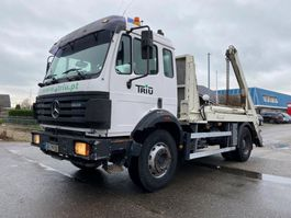 container truck Mercedes-Benz 1820 MANUAL FULL STEEL SPRING BIG AXLE 1997