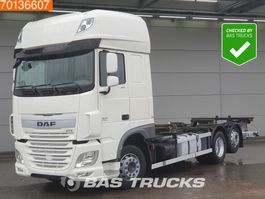 swap body truck DAF XF 460 6X2 SSC ACC Intarder Ladebordwand Liftachse 2x Tanks 2018