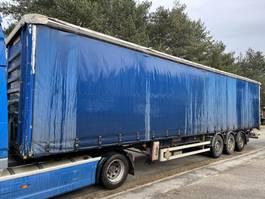 sliding curtain semi trailer Fruehauf 3-AXLES SAF - DISC BRAKES - AIR SUSP. - ANTI THEFT CURTAINSIDES - BACHE ANTI VOL - CLEAN SHAPE 2008