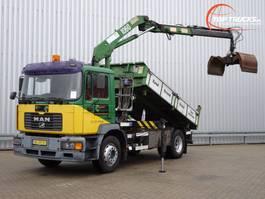 автосамосвал > 7.5 t MAN 18.240 HMF 10TM Kraan, Crane, Kran - Kipper, Tipper - NL Truck!! Manuel 2002