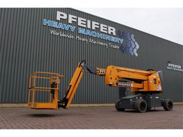 articulated boom lift wheeled Haulotte HA15IP Valid inspection, *Guarantee! Electric, 15 2019