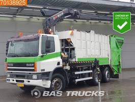 garbage truck DAF CF 75.290 6X2 Manual Euro 3 Geesink Aufbau Crane Kran Hiab 190 W-3 2002