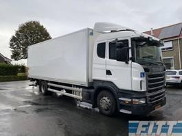 closed box truck Scania R360LB4X2HNA bakwagen, klep, dubbele bediening, 4x gordels, rijschool 2013