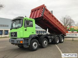 tipper truck > 7.5 t MAN 35.410 Full steel - Manual - 6 cylinder - Mech pump 2000