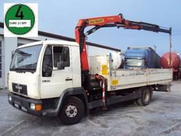 crane truck MAN 12.224 Pritsche Palfinger PK 10000 AHK 6 Zyl 2001