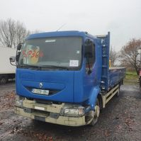closed box truck Renault Midlum 180 2001