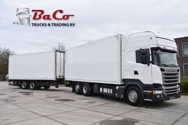closed box truck Scania R410 TL 6x2MNA + HANGER - RETARDER - EURO 6 - ELEVATORS - EXCELLENT CONDITION - 2014