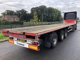 flatbed semi trailer Fruehauf Vlakke gestuurd oplegger met rongpotten!! 2005