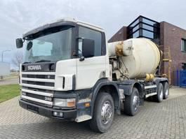 concrete mixer truck Scania 114.340 8x4 / 8.000 L Liebherr Mixer / Full Steel 1998