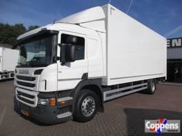 closed box truck Scania P250 4x2 Gesloten bak met klep Euro 6 2014