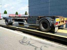 container chassis trailer GS Meppel Container aanhangwagen