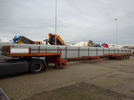 semi lowloader semi trailer Nooteboom DO - Double (2x) Extendable till 25,2 Mtr. - 4x Powersteering axles - ABS 1992