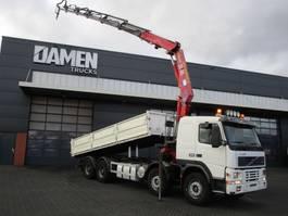 tipper truck > 7.5 t Volvo FM 12.380 8x4 Kipper / Kraan 2001