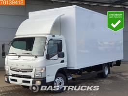 closed box truck Mitsubishi Canter Fuso 7C18 4X2 Manual Ladebordwand Euro 6 2017