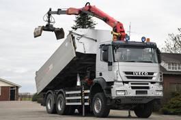 tipper truck > 7.5 t Iveco TRAKKER 450 !!6x6!!EURO 5!!Z-KRAAN/KIPPER!! 2008
