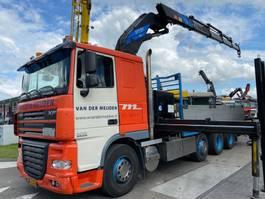 drop side truck DAF XF 105.410 FAK 8X2 MANUAL EURO 5 + EFFER 45/4S 2006