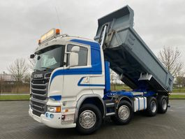 tipper truck > 7.5 t Scania R580 EURO 6 FULL STEEL 8x4 2015