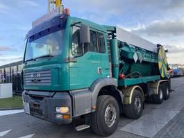 vacuum truck MAN TGA 35.480 8X4 MANUAL FULL STEEL + VACUUM CLEANER 14000 LITER 2004
