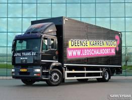 closed box truck MAN TGM 18.240 4X2 BL EURO 4 2000 KG TAIL LIFT HOLLAND TRUCK 2007