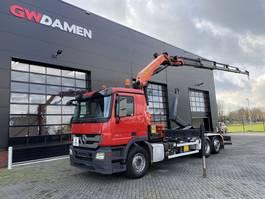 container truck Mercedes-Benz 2541 Actros 6x2 Haaksysteem / Kraan  Euro 5 2011