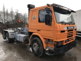 container truck Scania P112 6x2 **FULL STEEL-LAMES-10TYRE** 1988