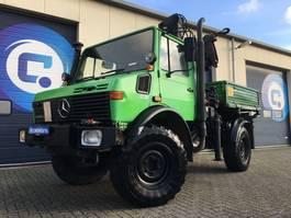 crane truck Mercedes-Benz UNIMOG U 1450 L 427/11 4X4 + HIAB 081 AW Autolaadkraan 1994