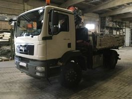 tipper truck > 7.5 t MAN TGM 18.290 4x4 BB 2-Achs Allradkipper Kran 2009