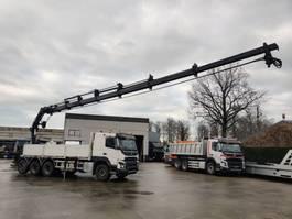 drop side truck Volvo FMX 420 Tridem 8X4 Manual + HIAB 288 E7 HiPro 2015