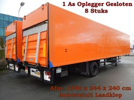 closed box semi trailer Floor FLO-7-10 1 As Oplegger Gesloten - 8 Stuks