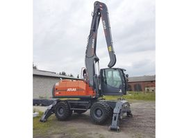 wheeled excavator Atlas 250MH , material handler , 0 MTH , NEW !!! , 2017 , lift cabin , 2017
