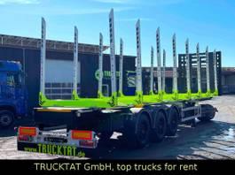 timber semi trailer KAESSBOHRER 8 Alu-Schemel u. Rungen, Liftachse, MIETEN? 2021