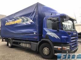 tilt truck Scania P230 MANUAL - huif met klep 2010