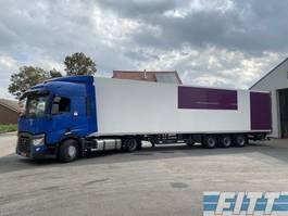 refrigerated semi trailer Schmitz Cargobull 3 ass ISO oplegger met 2T klep ICM Renault 2014 T380 mega trekker 2015