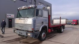 platform truck Iveco Turbostar 190 - 30 (STEEL SUSPENSION/ WATER COOLED 6 CYLINDER ENGINE WITH MANUAL PUMP) 1986