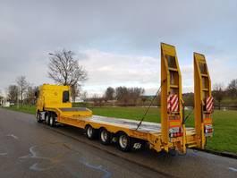 semi lowloader semi trailer Gheysen en Verpoort Semi Dieplader voor machine transport 2008