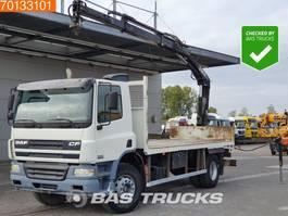 platform truck DAF CF 75.310 4X2 Manual Steelsuspension Euro 3 HIAB 102 Crane 2003
