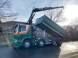tipper truck > 7.5 t DAF CF 85 FAD CF85 460 Kipper Mit Kran Hiab 144 E 2011