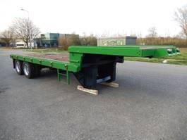 lowloader semi trailer 2 As Oplegger Dieplader Open T.b.v. Langzaam Verkeer Open Werf of Terrei...