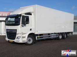 closed box truck DAF CF 370 FAN 6X2 Euo 6 2019