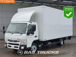 closed box truck Mitsubishi Canter Fuso 7C18 4X2 Manual Ladebordwand Steelsuspension Euro 6 2017