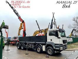 crane truck MAN TGS 35.440 8x4 + KRAN PALFINGER PK29002 E - 6x + RADIO - STEEL SPRING - MANUAL ZF / SUSP. LAMES - BOITE MANUELLE ZF - HUB REDUCTION