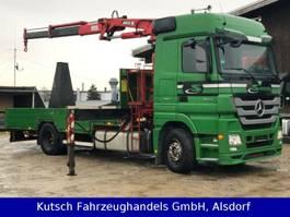 car transporter truck Mercedes-Benz 1844L Actros MP3 Traktorentransporter + Kran MKG 2009