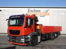 drop side truck MAN TGS 26.320 6x2 Pritsche, Palfinger PK 15500 B 2009