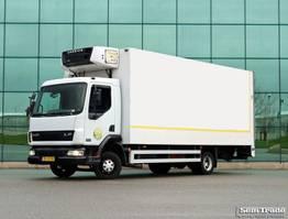 refrigerated truck DAF LF 45.150 MANUAL STEEL SUSPENSION CARRIER SUPRA 550 2001